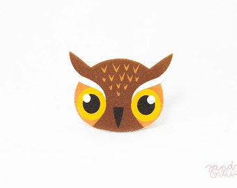 Cute Owl Brooch