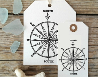Wind Rose Decorative Stamp, Nautical Theme Rubber Stamp, Beach Wedding Stamp Ready to Ship  -1630300318-
