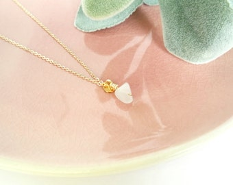 Roses Quartz necklace//14k gold Plated Gold necklace//Rose quartz charm//pink quartz//personal jewellery//Special occasion//Gifts