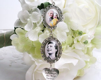 WEDDING Bouquet MEMORY PHOTO Charm, Bridal Bouquet Charm, Bridal Photo Charm, Wedding Gift Memory Keepsake Mother Gift for Bridal Bouquet