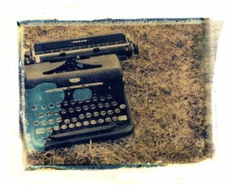Photography Polaroid Typewriter Retro Home Decor Vintage Art 11x14 Print