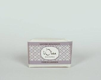 Sapone Naturale Biologico Fiori di lavanda - lavanda flowers - processo a freddo - cold process - olive oil - Natural Handmade Soap