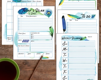 Planner Bundle, Daily Planner, Weekly, Monthly DIY planner, Planner Printable Pages, Daily Printable, Planner Printable Inserts, Refills