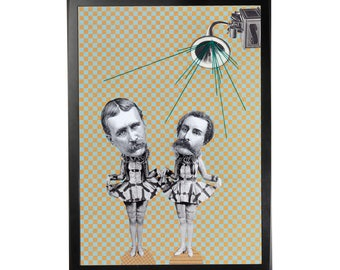 Art print poster collage DADA #9 in A3 (29, 7x42cm)