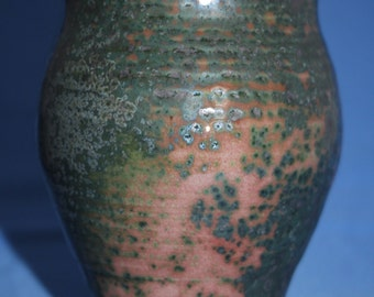 Green Purple and Lavender Spotted Ceramic Vase, Modern Home Decor, Unique Clay Bud Vessel