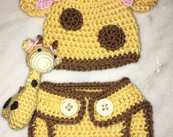 Crochet Giraffe Outfit for Girls
