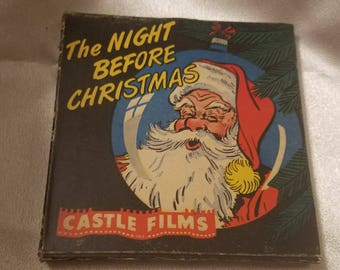 Vintage Castle Films Night Before Christmas Complete Edition 8 MM Millimeter Film in Original Box No 807 Holiday Short Movie Film 8MM