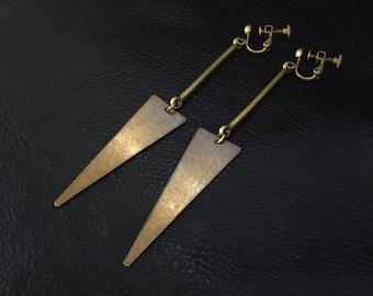 Geometric statement earrings, minimalist geo shoulder dusters
