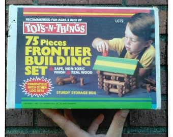 Toys N Things Kids Frontier Building Set Building Block complete Set 1980's