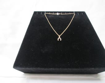 Park Lane Gold Plated Chain Necklace with Horseshoe Shaped Pendant