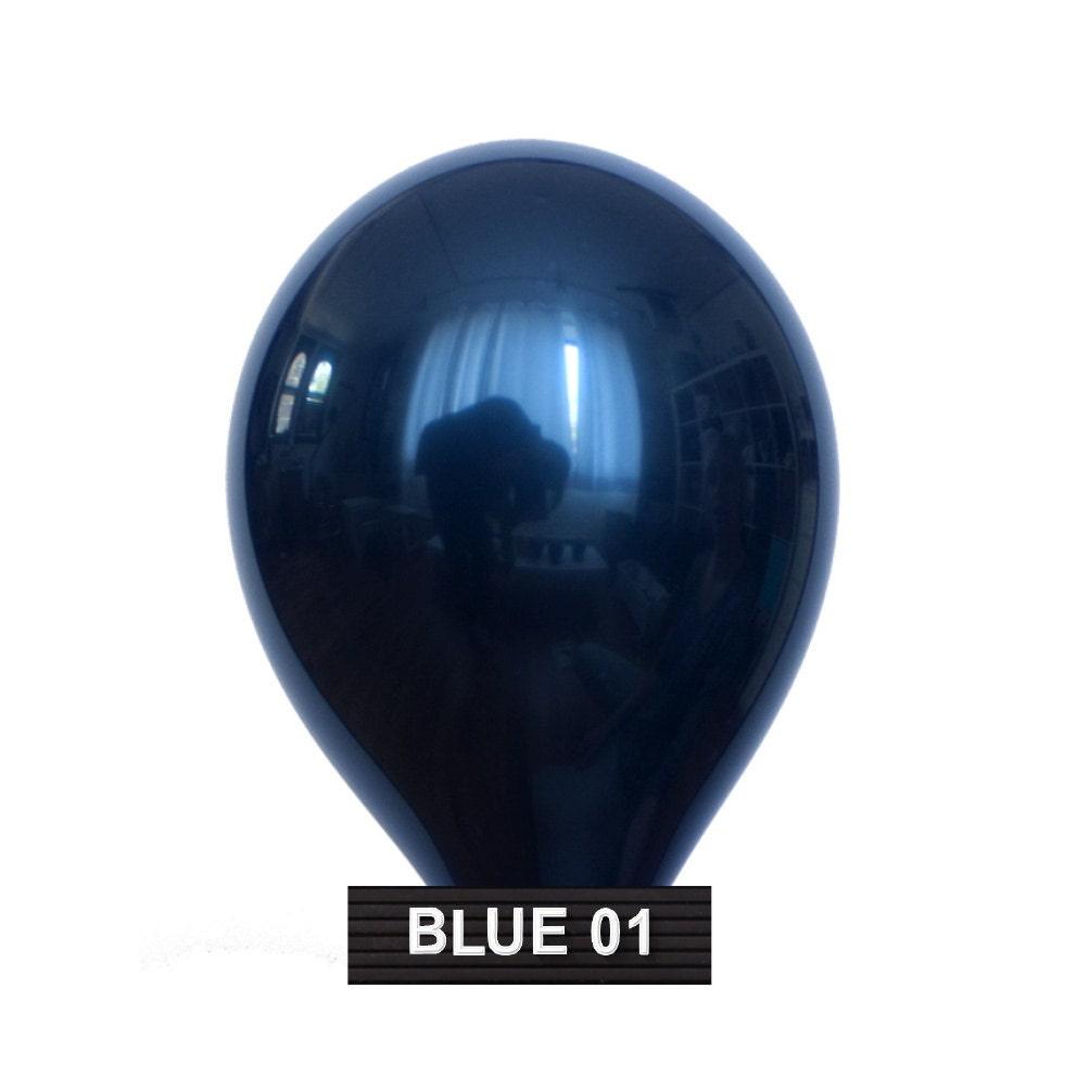 Navy Dark Blue Wandfarbe: BLUE-01 : 11 Dark Navy Blue Balloons 10 Balloons Per
