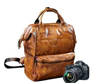 Camera Backpack, Dsrl Backpack, Camera Bag, Dsrl Camera Bag, Leather Camera Bag, Leather Camera Backpack, Dsrl Bag, Brown Camera Backpack