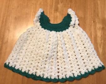 Handmade Baby Crochet Pettifore Dress