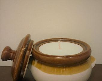 Ceramic Scented Candle - Honey Pot