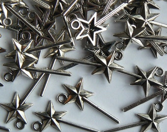 25 Tibetan Fairy Star Magic Wand Charms