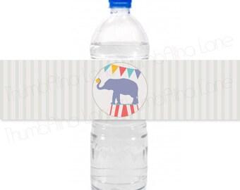 Carnival Circus Printable Water Bottle Labels, Instant Download  - Digital File, Printable, DIY