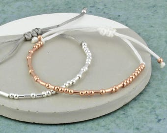 Morse Code 'Strong and Fearless' Bracelet