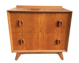 Danish Modern Scan Design Small 2 Drawer Cabinet