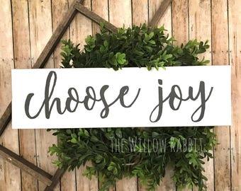 Choose Joy | Joy | Positive Decor | Farmhousr Decor | Choose Joy Sign | Joy Sign