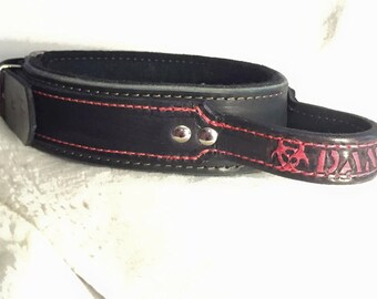 Customized Leather Dog Collar with Handle