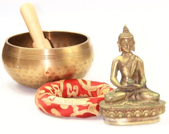 Brass Singing Bowl Copper Tibetan Nepalese Buddhism For Meditation, Peace Handmade - Item code A5