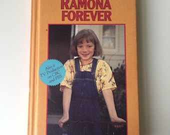 1984 Ramona Forever by Beverly Cleary Weekly Reader Book Club edition TV show cover Sarah Polley
