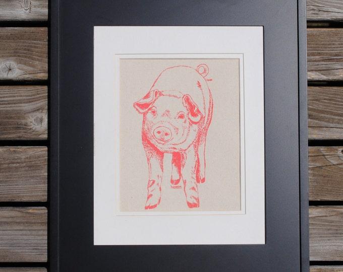 Pig Art Print - Artwork for Nursery - Kids Room Decor - Kitchen Wall Prints - Baby Shower Gift Idea - Animal Prints - Pig Prints
