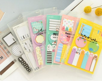 Cute Animal Mini Sticky Notes Sets