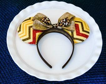 Mickey Mouse Ears, Mickey Ears Headband, Tribal Print, Animal Kingdom Ears, Mickey Ears, Minnie Ears, Minnie Mouse Ears, Safari Ears, Zoo