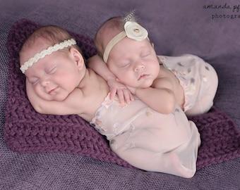 Baby Blanket Purple Baby Blanket Purple Plum Baby Blanket Baby Girl Blanket Newborn Blanket Newborn Photo Prop Photography Prop Layering