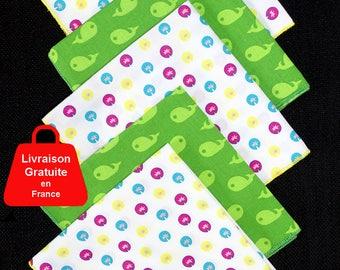 Handkerchiefs 27 x 27 cm (set of 5)