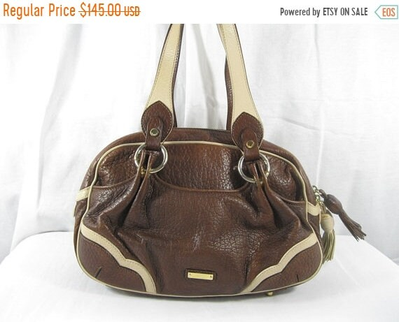 2eb3b9accea90 15% OFF SUMMER SALE Vintage Moschino brown leather satchel bag