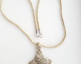 Ethiopian necklace, cross pendant, Ethiopian Coptic Cross, silver necklace, silver pendant, Ethiopian jewelry