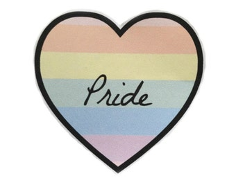 Pastel Gay Pride Heart Sticker