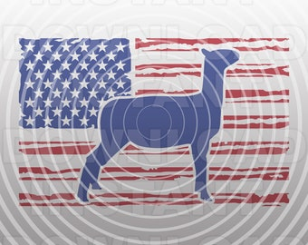 Show Lamb USA Flag svg File,Livestock svg,4-H SVG,FFA svg -Commercial & Personal Use- Vector Art for Cricut,Silhouette Cameo,iron on vinyl