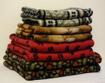 Doggie Mat Beds - Variety of Fleece Prints