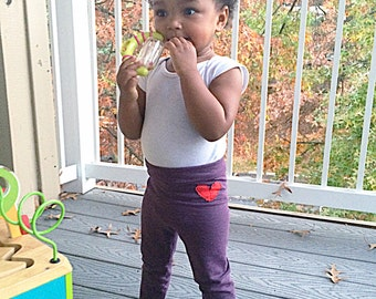 PurpleTerry cotton baby/toddler yoga pants • Made to order