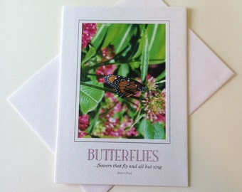 Photo Note Card Sweet Nectar Blank Inside Inspirational Quote