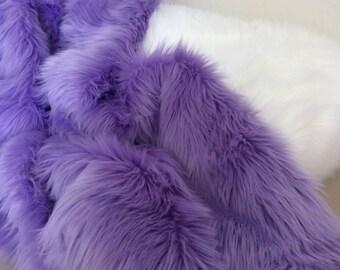 Shag Lavender Faux Fur Throw Pillow COVER