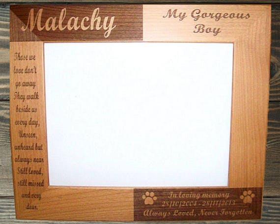 Unique Pet Memorial Frame Personalized Image - Frames Ideas ...