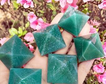 "GREEN AVENTURINE Mini pyramid - 2 "" // creativity stone"