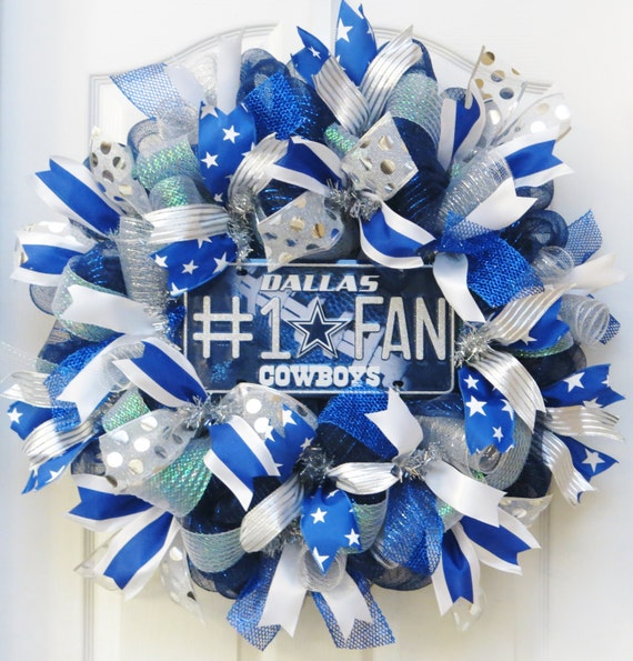 Dallas Cowboys Welcome Home Sign: Items Similar To Dallas Cowboys Wreath, Dallas Cowboys Fan