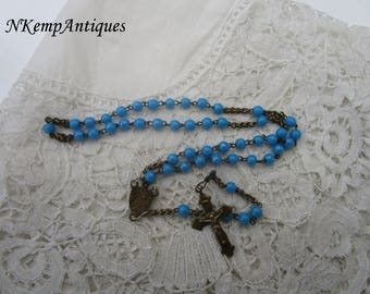 Antique glass rosary