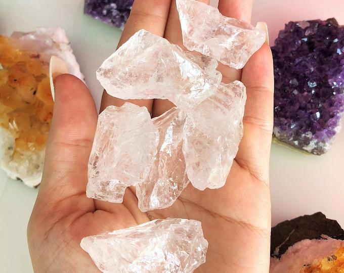 Clear Quartz Crystal Medium Raw Healing Stones Perfect for Crystal Grid, Jewelry Supply