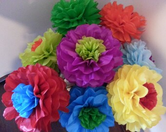 Tissue paper fiesta flowers set of 8 tissue paper flower tissue paper fiesta flowers set of 8 tissue paper flower parties decorcinco de mayodecoration mightylinksfo