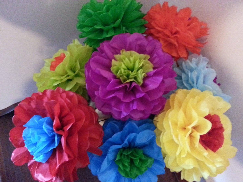 Tissue Paper Fiesta Flowers Set Of 8 Tissue Paper Flower