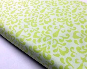 Riley Blake Designs C-3343 Ashbury Heights Damask Citron Print Quilting Craft Sewing Home Decor Fabrics