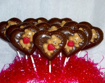 Valentine's Day Hearts and Teddy Bears Lollipops