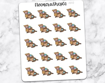 SLOTH PLAY TIME Stickers — A202