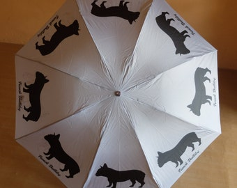 FRENCH BULLDOG UMBRELLA Custom Personalized Silhouette Dog Puppy Lovers Gift Stuff Christmas Collection